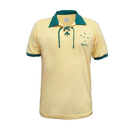 Camisa Retrô Brasil Cordinha