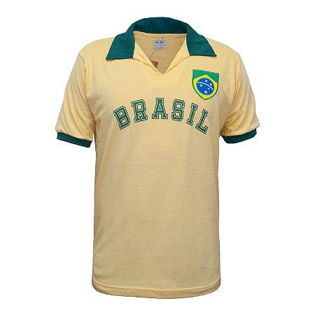 Camisa Retrô Brasil - Fenda Amarela