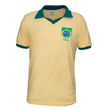 Camisa Retrô Brasil - Polo Amarela
