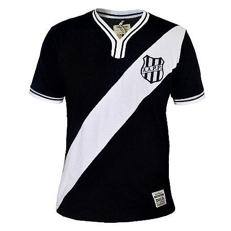 Camisa Retrô Ponte Preta 1977 Preta