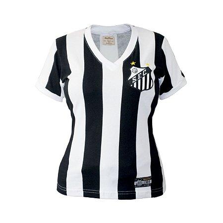 Camisa Retrô Feminina Santos 1984 Listrado