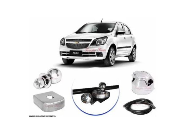 Engate Reboque Rabicho Para Chevrolet Agile ate 2013 - 0 furos