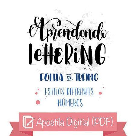 Apostila de Lettering Iniciante - Alfabetos / Números (digital)