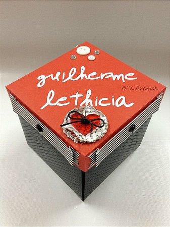 Caixa Explosion Box com coração