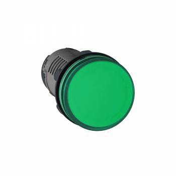 Sinaleiro Lukma LK16 22MM LED 220V Verde 16014