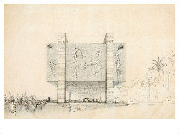 PÔSTER MUSEU DE ARTE DE SÃO PAULO, PERSPECTIVA - LINA BO BARDI