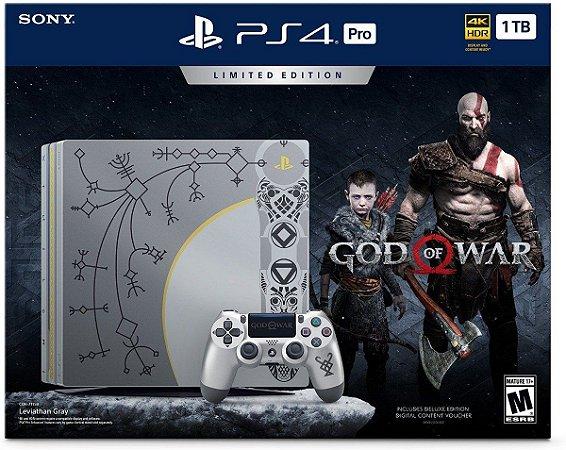 Playstation 4 Pro - 1TB - God Of War  Edition + 2 jogos seminovo