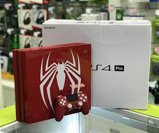 PLAYSTATION 4 PRO - 1TB - Spider Man Edition + 2 Jogos Seminovos