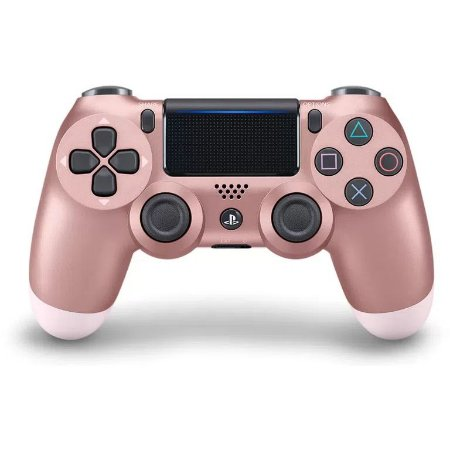 Controle PS4 sem Fio Dualshock 4 Sony - Rosa Dourado rose gold - PS4