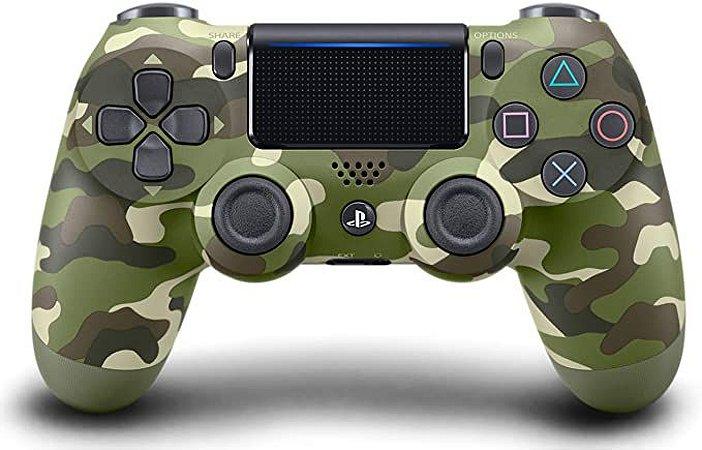 Controle PS4 sem Fio Dualshock 4 Sony - Camuflado verde - PS4