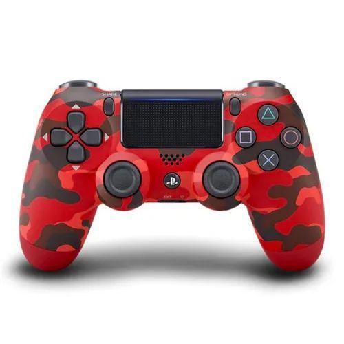Controle PS4 sem Fio Dualshock 4 Sony - Camuflado vermelho - PS4