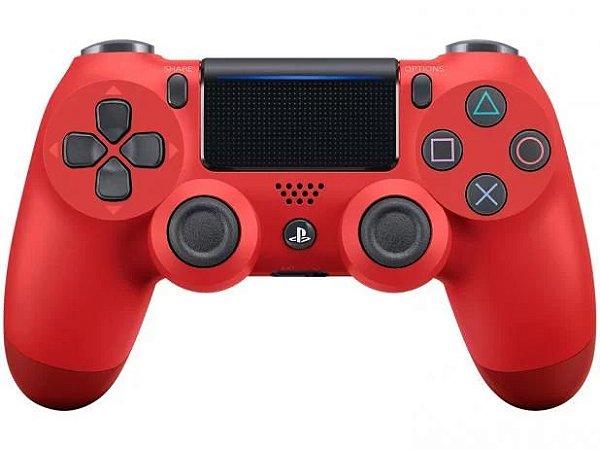 Controle PS4 sem Fio Dualshock 4 Sony - vermelho - PS4