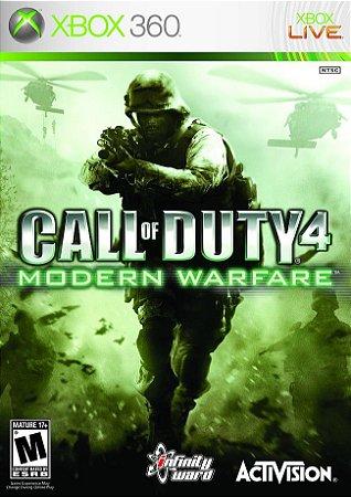 CALL OF DUTY 4 MODERN WARFARE - Xbox 360  -Semi-Novo
