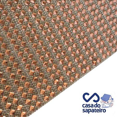 Manta Strass Losango Rosê 40 x 24 cm