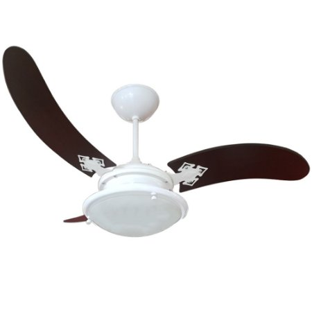 Ventilador Teto Venti Delta Light Siena 25 Branco 03 Pás Tabaco