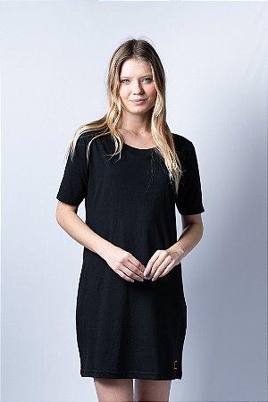Mormaii Vestido Camiseta Preto