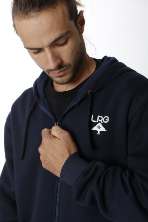 LRG Casaco Moletom Canguru Aberto Logo Plus