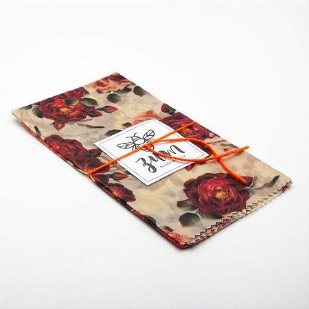 Tecido de Cera - Rosas Vermelhas - GG