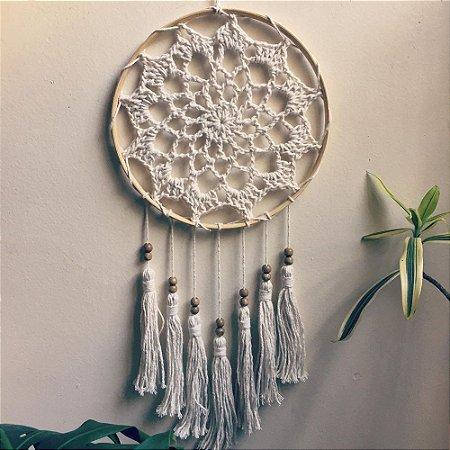 Mandala Crochê Algodão Cru