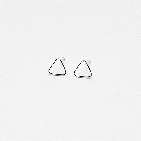 Brinco Triângulo Vazado Fino