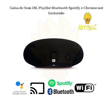 Caixa de som JBL Playlist  com Chromecast