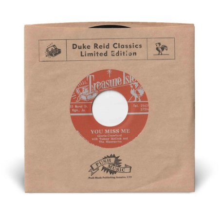 """7"""" Gloria Crawford - You Miss Me / Tommy McCook & The Supersonics - Our Man Flint"""