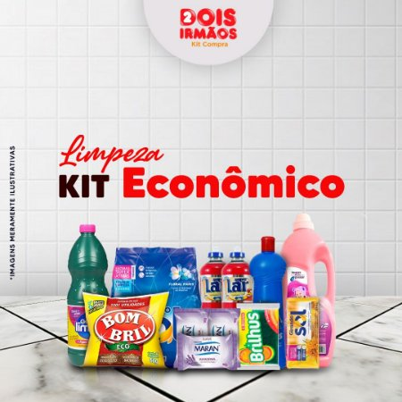 Kit de limpeza econômico