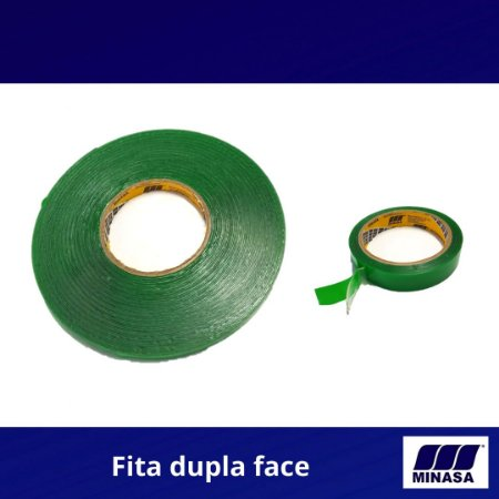 Fita dupla face Fixa forte massa acrílica Transparente 12 x 20mts