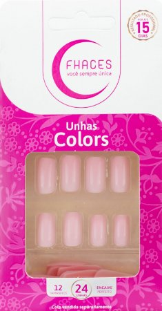 Unhas Fhaces Colors Lady Rose - 24 unhas