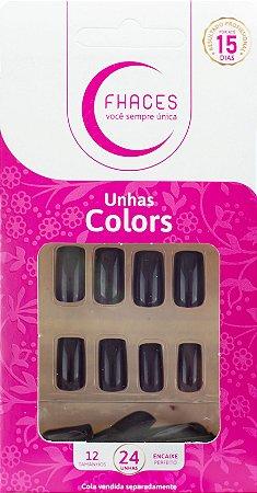 Unhas Fhaces Colors Jabuticaba - 24 unhas