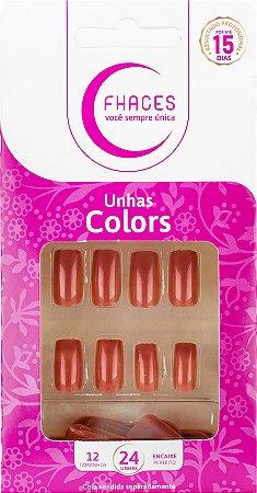 Unhas Fhaces Colors Bronze Praia - 24 Unhas