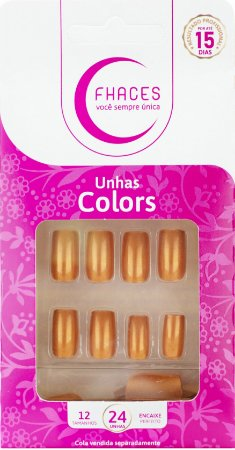 Unhas Fhaces Colors Doce Brisa - 24 unhas