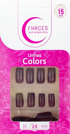 Unhas Fhaces Colors Dona Avelã - 24 unhas