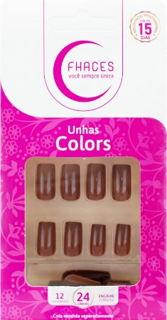Unhas Fhaces Colors Calda de Chocolate - 24 unhas