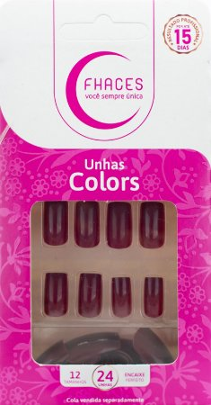 Unhas Fhaces Colors Maçã do Amor - 24 unhas