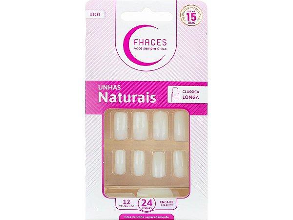 Unhas Fhaces Natural Longa Clássica - 24 Unhas