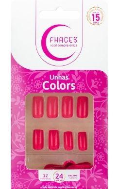Unhas Fhaces Colors Possessão Rosa - 24 unhas