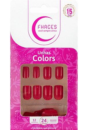 Unhas Fhaces Colors Escarlate - 24 unhas