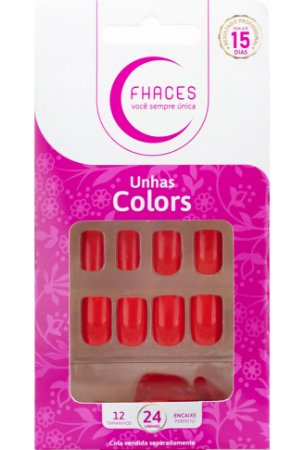 Unhas Fhaces Colors Clown - 24 unhas
