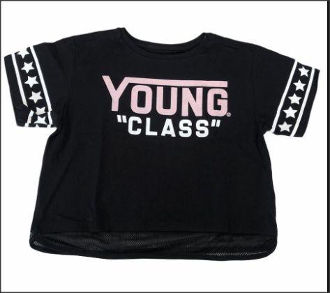 T-shirt feminina estilo cropped