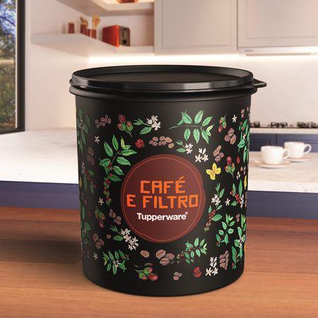 Tupperware Caixa Café e Filtro 3,7 Litros Floral