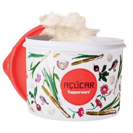 Tupperware Caixa Açúcar Floral 1,4kg