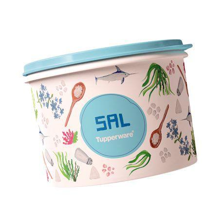 Tupperware Caixa de Sal 1,3kg Floral