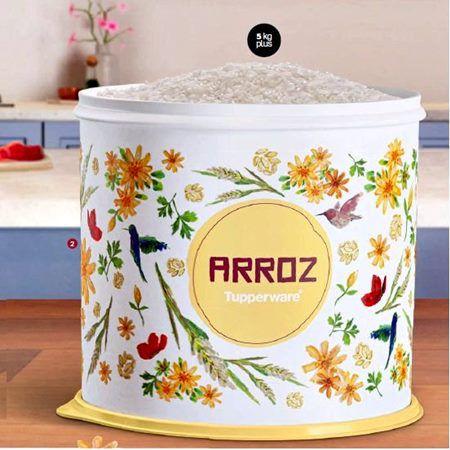 Tupperware Caixa de Arroz Floral 5kg Plus