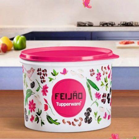 Tupperware Caixa de Feijão Floral 2kg