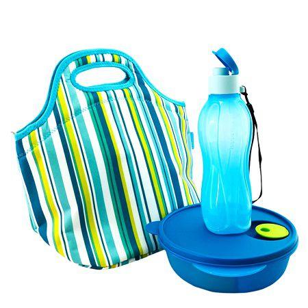 Tupperware Kit Marmita Azul 3 Pecas