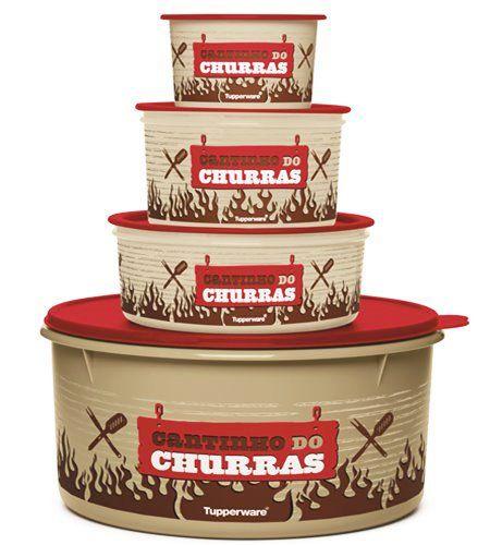 Tupperware Kit Cantinho do Churrasco 4 Pecas