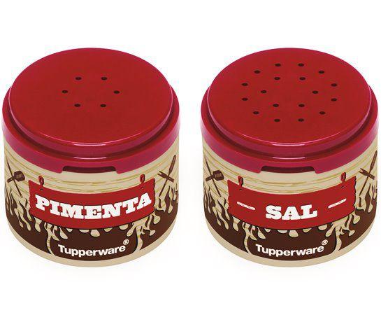 Tupperware Kit Pimenteiro e Saleiro de Mesa