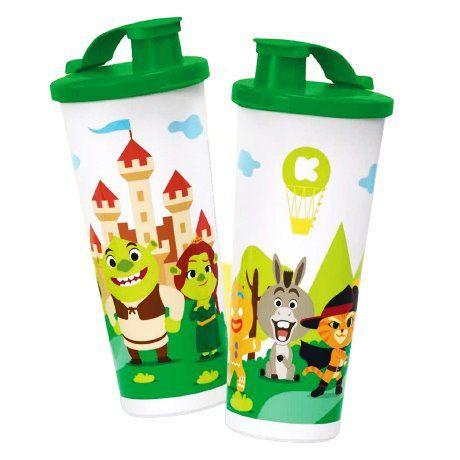 Tupperware Copo Com Bico Koukou Shrek 470ml