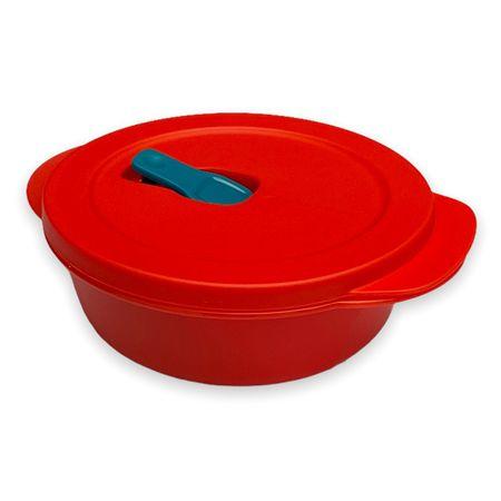 Tupperware Cristalwave Redondo 600ml Vermelho